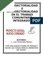 PONENCIA DE INTERSECTORIALIDAD