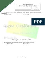 5.9 - Disjunção e conjunção de inequações - Ficha de Trabalho (1)