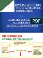 ESPACES ET ACTEURS DE LA PRODUCTION EN FRANCE