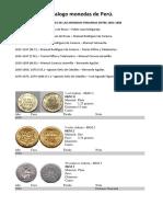 Catalogo monedas de Perú