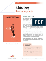 This Boy by Lauren Myracle Discussion Guide