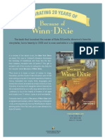 Because Winn-Dixie by Kate DiCamillo 20th Anniversary Edition Press Release