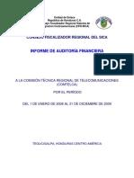 Informe de Auditoria Financiera COMTELCA 2008-2009