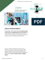 Método Analítico - Concepto, características y ejemplos