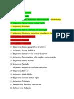 calendario completo com conteudos 2020