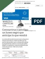 Coronavirus y petróleo