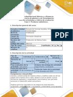 Guía de actividades y rúbrica de evaluación - Fase 5 -  Producto Radiofónico