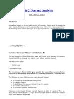 Unit 2 Demand Analysis & Elasticity