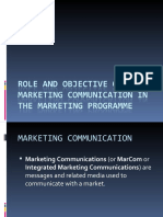 1. Role and Objective of Marketing Communication