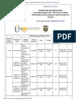 Agenda - PRODUCCIÓN DE MEDIOS RADIO - 2019 II Período 16-04 (614)