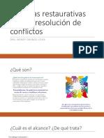 Prácticas restaurativas  para la resolución de conflictos_Obando