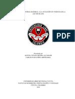 CONTROL MATERIAL A LA ACUSACIÓN EN VIGENCIA DE LA LEY 906 DE 2004