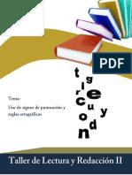 Uso de signos de puntuación y reglas ortográficas