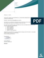 carta para pastores solicitud miembros de junta