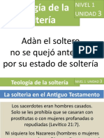 DIPLOMADO TEOLOGÍA DE LA SOLTERÍA