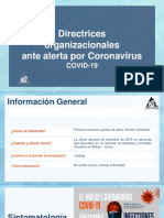 Directrices ante Corona virus