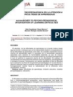 Una mirada psicopedagógica en la atención a las dificultades de aprendizaje (1)