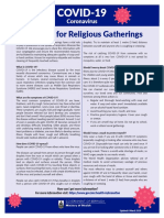 Guidance for Religious Gatherings 3 20