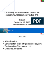 Rob Valli - Developing an Ecosystem to Support an Entreprenuerial Community in the UAE