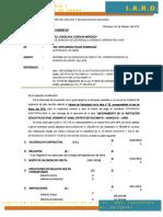 CARTA N° 004 CONFORMIDAD DE VALORIZACIÓN N° 05 DE ENERO DEL 2018