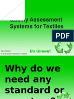 Quality Assessment System for Textiles
