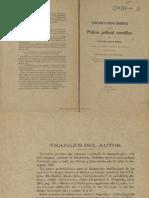 Estado actual de nuestros conocimientos sobre polica judicial cientfica