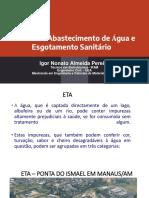 Aula 1 - Sistema de abastecimento de água e esgotamento sanitário - INTRODUÇÃO