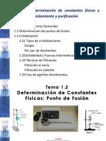 Tema 1. Cristalizacion y Punto de fusión