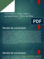 alicia de alba definicion de curriculum
