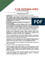 TALLERS DE CÁTEDRA AFRO
