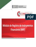 Regitro de la informacion Financiera en el MIF