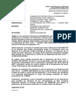 RESOLUCION DE INDECOPI Clinica  San Borja vs Lorgio vidal