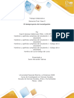 Anexo 1 -  Formato de Entrega