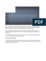 Emboss-Deboss Text Effect Guide