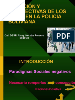 Situacion y perspectivas de os derechos humanos en la policia boliviana