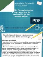 presentacion taller evaluacion