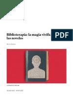 Marta Rebón Biblioterapia_ La Magia Vivificante de Las Novelas _ EL PAÍS Semanal