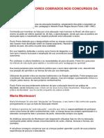 PRINCIPAIS AUTORES COBRADOS NOS CONCURSOS DA ÁREA DA EDUCAÇÃO