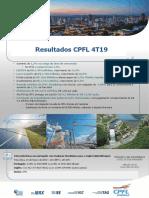 CPFL Press Release 4T19 Final