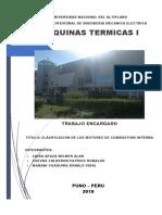 CLASIFICACIÓN DE MOTORES DE COMBUSTIÓN INTERNA
