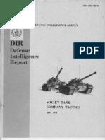 Soviet Tank Company Tactics