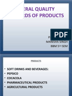 General Quality Standads of Products