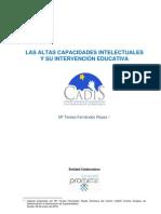 Las Altas Capacidades intelectuales y su intervención educativa_CADIS
