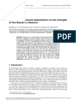 The effect of cement stabilization on the strength of the Bawen's siltstone