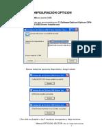 Instalación OPTICON Rev 2.1