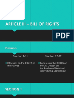 ARTICLE III – BILL OF RIGHTS