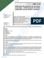 NBR 14126 - Tratamento de superficie do aluminio e suas ligas - Determinacao do brilho da pelicul
