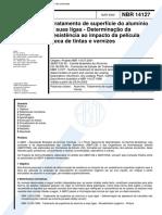 NBR 14127 - Tratamento de superficie do aluminio e suas ligas - Determinacao da resistencia ao im