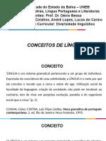 Apresentação 10 Conceitos de Língua - Diversidade Linguística, 2019