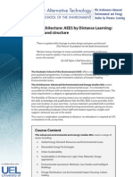 AEES MSc by Distance Learning Details and Structure 26 Nov 10